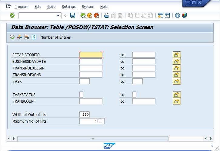 SAP CAR – Understanding Tasks status table logs (/POSDW